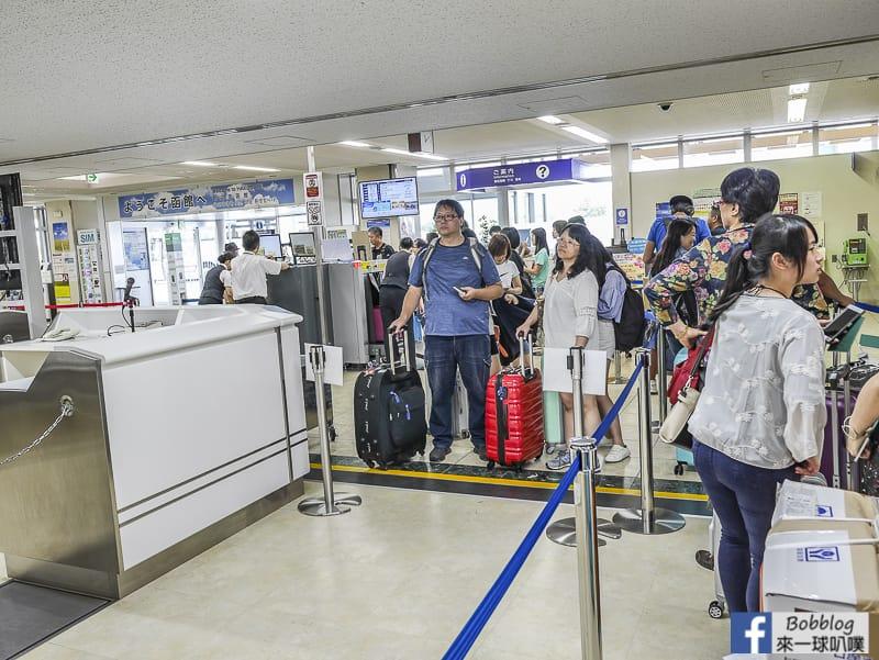 Hakodate airport depart 36