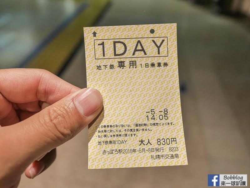 延伸閱讀:札幌交通票券|札幌地鐵一日券,DONICHIKA卡(ドニチカキップ)
