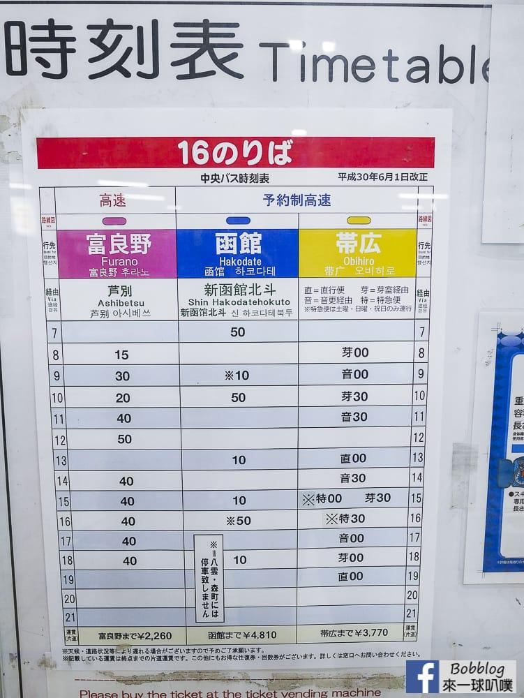 Sapporo to Furano bus 2