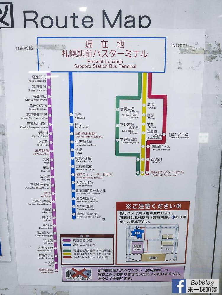 Sapporo to Furano bus 3