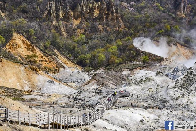 北海道登別地獄谷散步路線(大湯沼,大湯沼川天然足湯,沿途景點) @來一球叭噗日本自助攻略