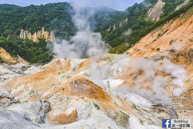 北海道登別地獄谷散步路線(大湯沼,大湯沼川天然足湯,沿途景點) @來一球叭噗日本自助