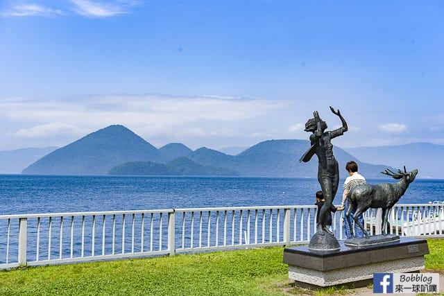 北海道洞爺湖溫泉街沿岸散步,洞爺湖Gurutto雕刻公園 @來一球叭噗日本自助攻略
