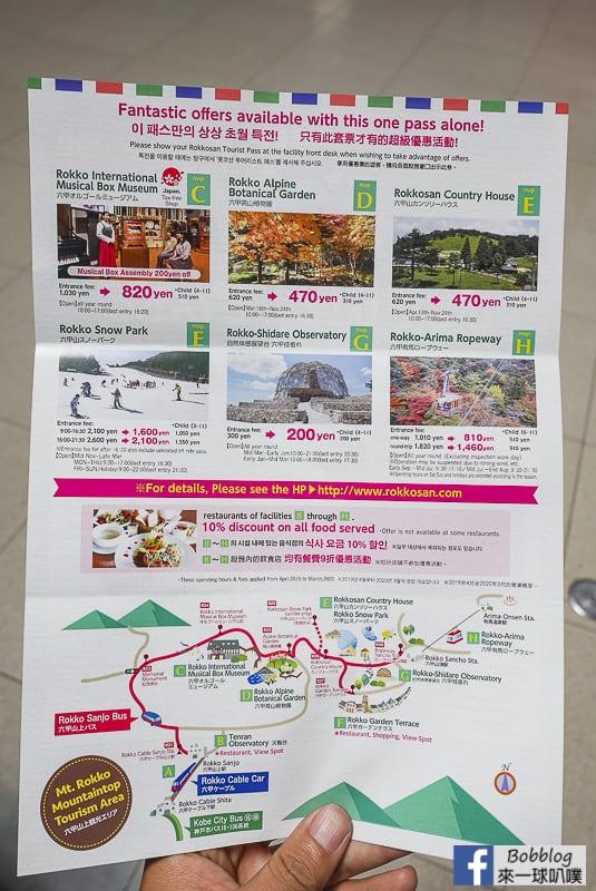 神戶六甲山交通票券-六甲山旅遊套票Rokkosan Tourist Pass @來一球叭噗日本自助攻略