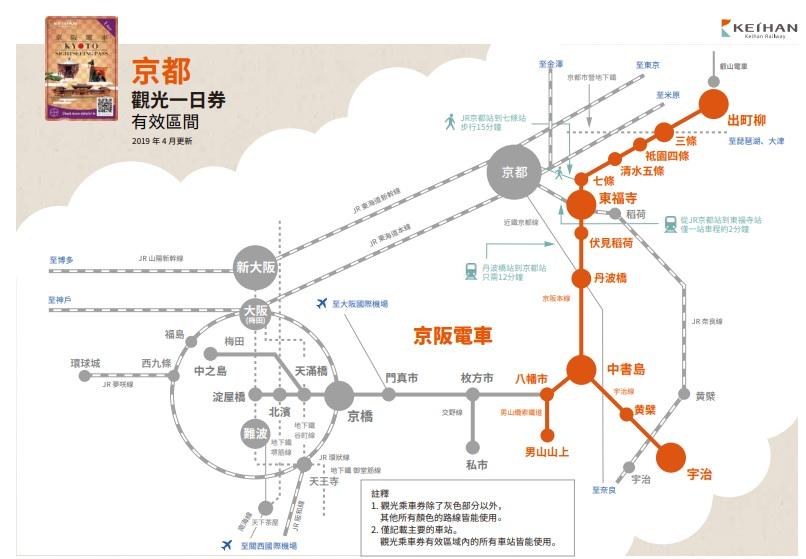 京阪電車交通票券*5整理(京都觀光一日券,京都大阪觀光一二日券) @來一球叭噗日本自助攻略