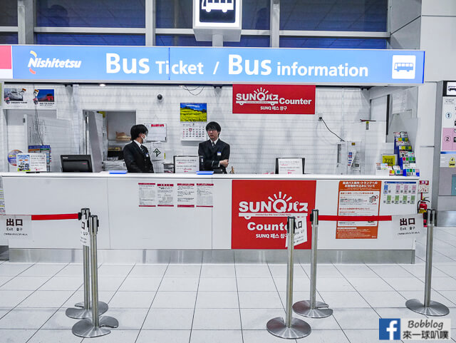 福岡機場入境流程介紹(福崗機場到博多天神交通,高速巴士)