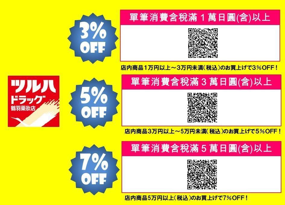 TSURUHA Drug鶴羽藥妝折扣券