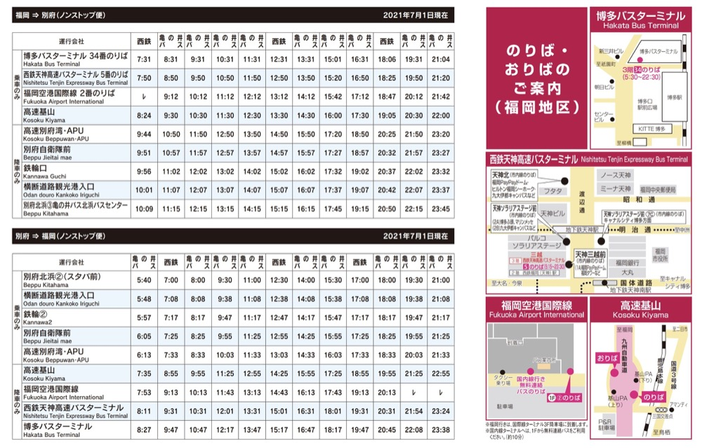九州別府地獄溫泉交通整理(別府市區巴士,高速巴士,JR鐵路)