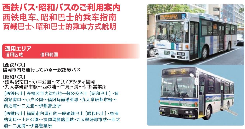 福岡市區交通票券|福岡悠遊卡(六種交通工具一次滿足!)
