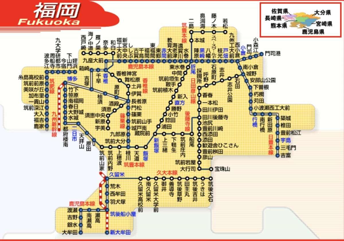 福岡市區四種交通工具整理|西鐵巴士、福岡市地下鐵、西鐵電車、JR九州鐵路