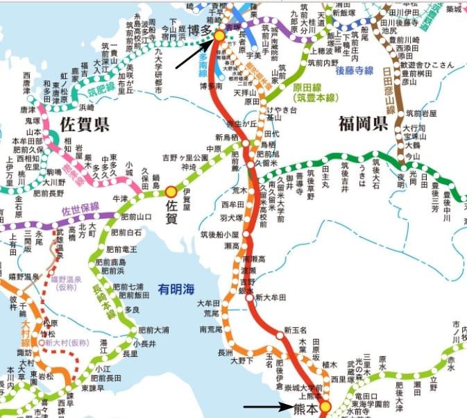 福岡到熊本三種交通方式(JR九州鐵路、九州新幹線、高速巴士)