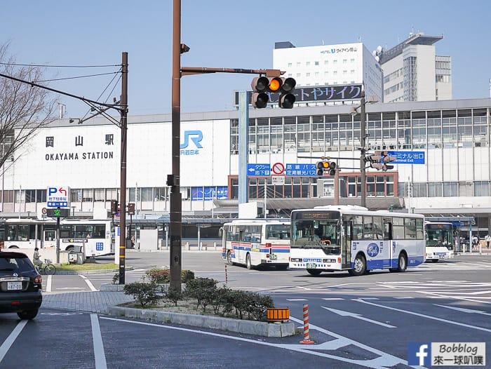 延伸閱讀:日本岡山車站設施、岡山路面電車巴士搭車處、岡山車站寄物