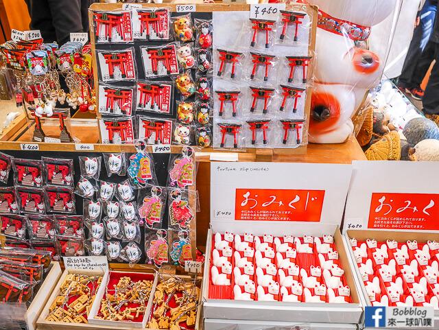 [京都]伏見稻荷大社千本鳥居,伏見稻荷大社商店街(美食,鳥居商品)