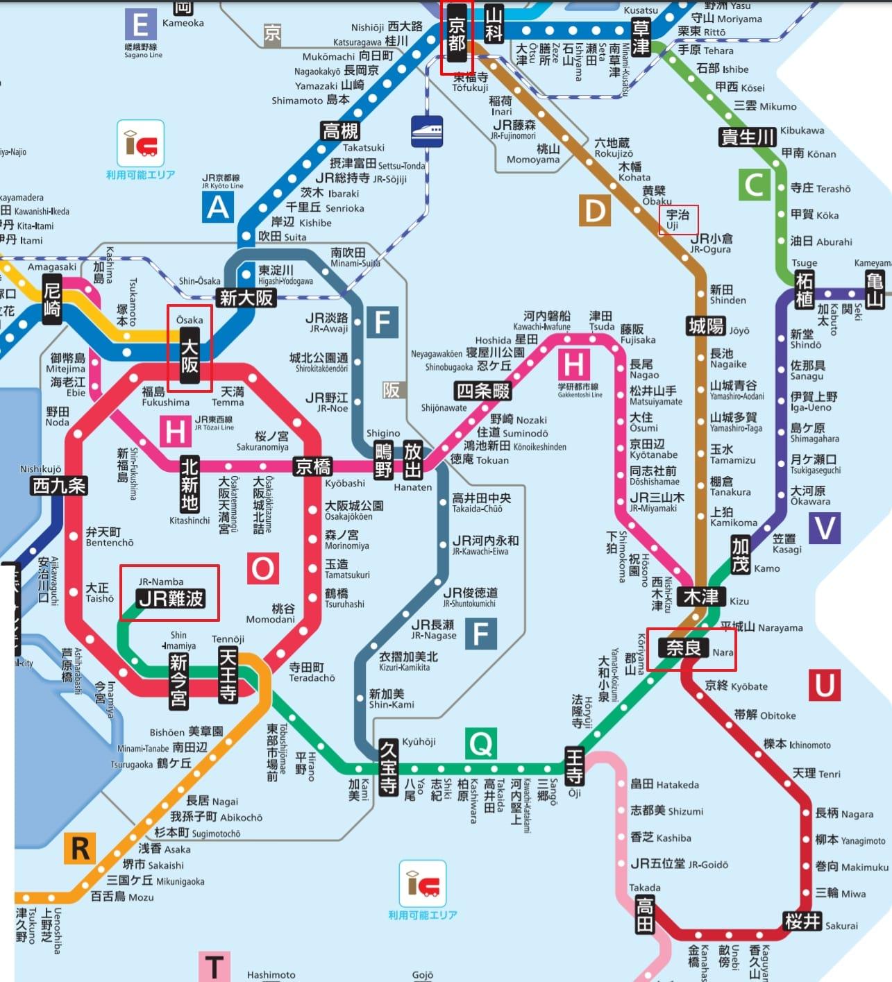 大阪京都到宇治交通方式整理|JR西日本鐵路、京阪電車