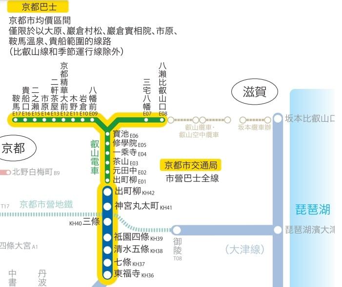 京阪電車票券|巴士叡電鞍馬櫃船當天往返車票