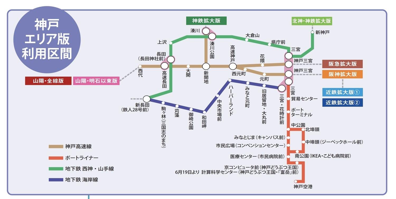 神戶街巡遊一日優惠券(神戸街めぐり1dayクーポン)版本、使用區間、購買地點