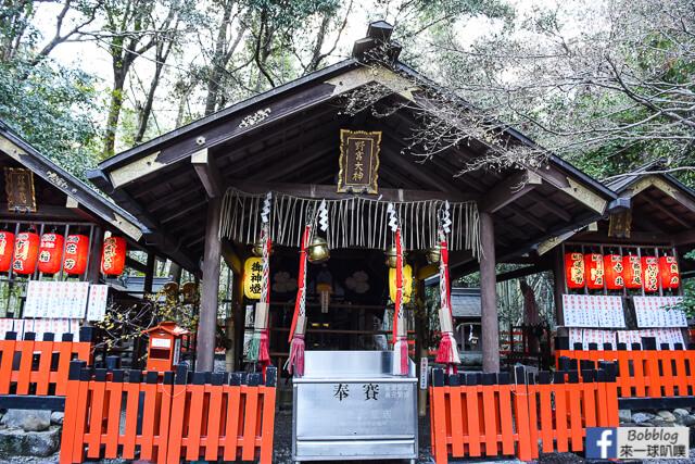 京都嵐山有名的野宮神社(祈求締結良緣及學業進步)