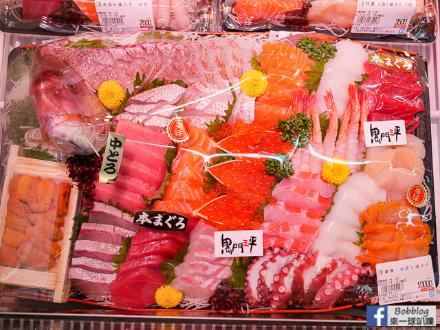 [大阪黑門市場人氣海鮮]黑門三平(海鮮|壽司|生魚片|帝王蟹)