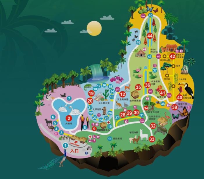 新竹北埔綠世界生態農場(門票、6大園區、可愛草泥馬)
