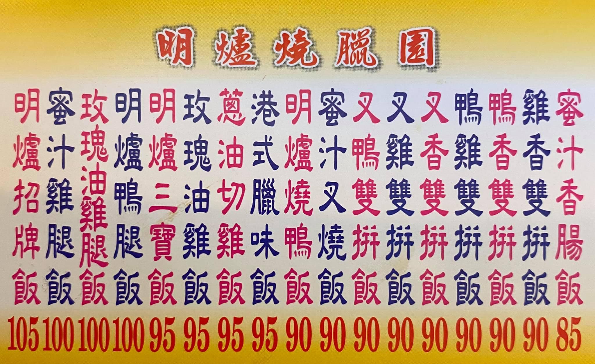 新竹港式燒臘便當|明爐燒臘(比較推燒鴨、明爐燒臘菜單)