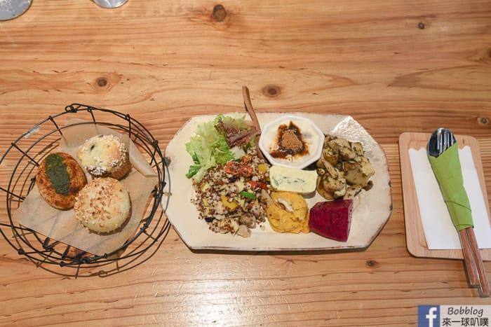 新竹市東區人氣早午餐|井家Tea House(好吃麵包炸杏鮑菇定食)