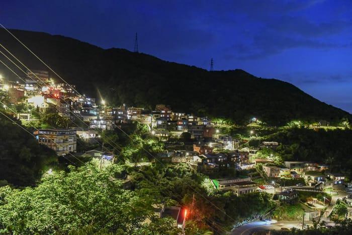 新北九份茶坊|水心月茶坊(舊天空之城)、九份景觀夜景、好喝茶葉