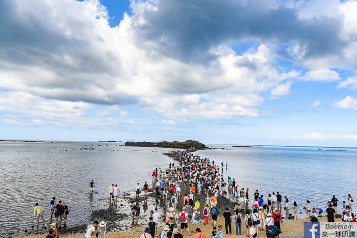 澎湖湖西鄉景點|奎壁山摩西分海(海上奇景,潮汐時間查詢)