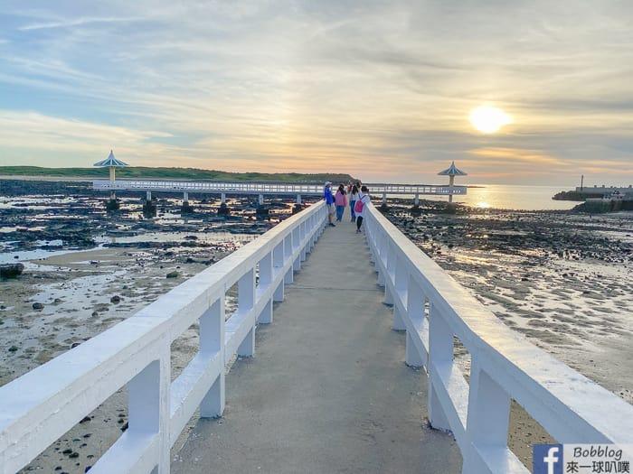 澎湖西嶼IG網美景點|小池角雙曲橋看夕陽、拍網美照