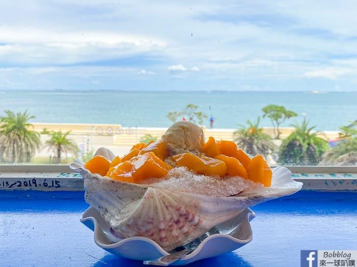 澎湖吉貝海景冰店|香香冰店(好吃芒果貝殼冰黑糖冰,雪花冰,果汁)