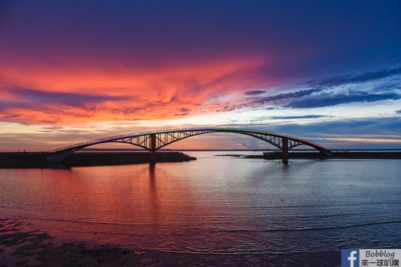 澎湖馬公觀音亭親水遊憩區、觀音亭看夕陽火燒雲、潮間帶生物