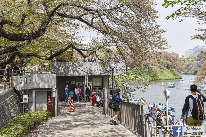 Chidorigafuchi Park boat 11