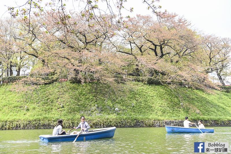 Chidorigafuchi Park boat 17