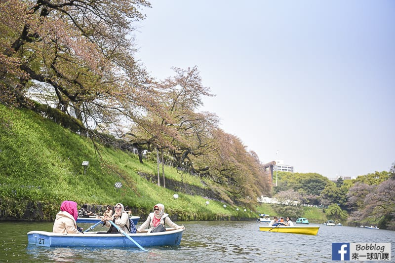 Chidorigafuchi Park boat 23