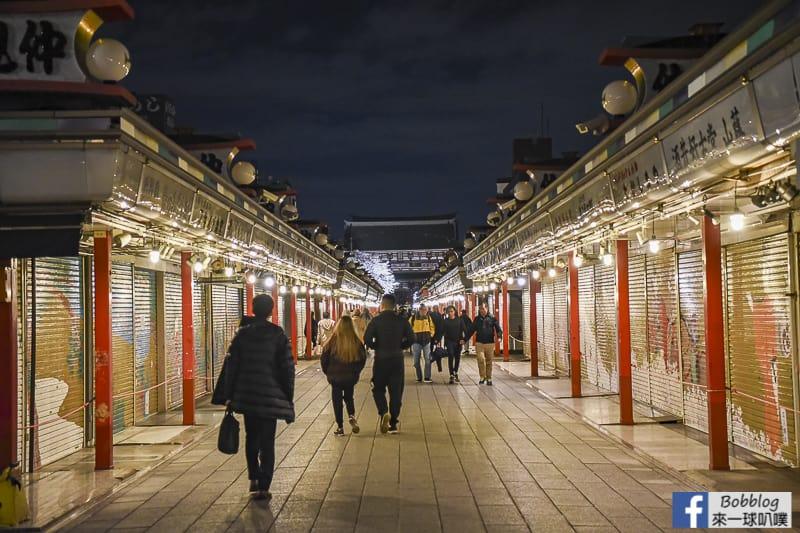 Asakusa night sakura 2