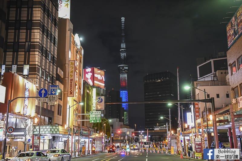Asakusa night sakura