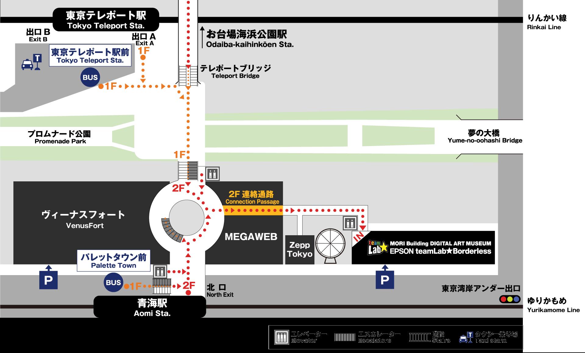 東京台場景點|TeamLab Planets TOKYO(夢幻無界展覽)