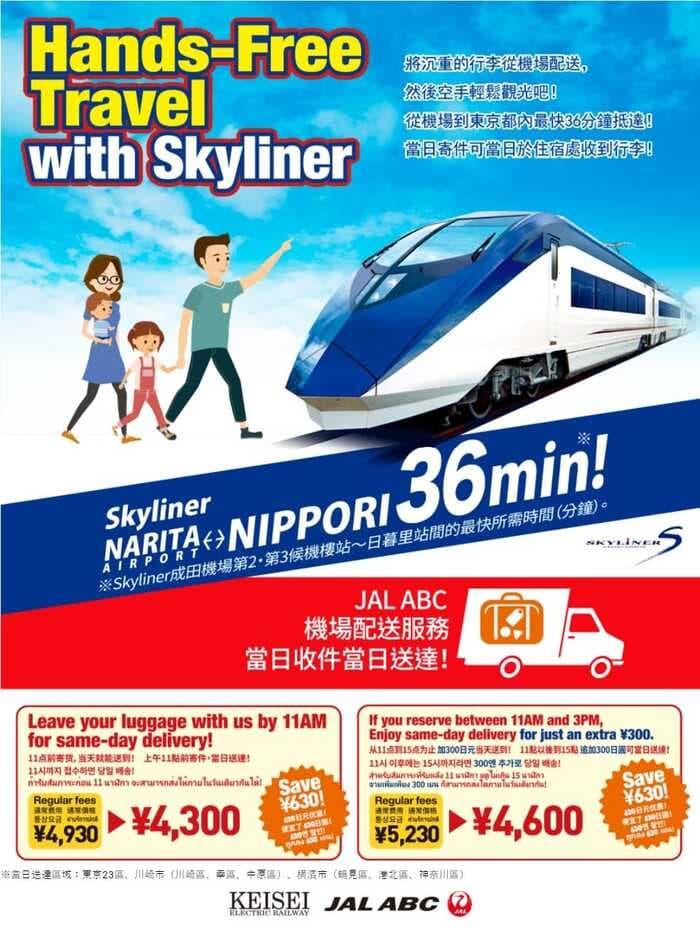 京成電鐵Skyliner交通票券*6整理