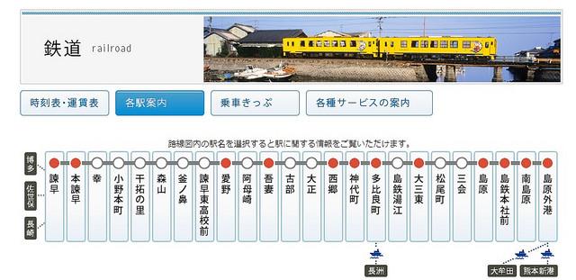 最新熊本,長崎,福岡,佐賀到島原交通(島原鐵道,巴士,熊本渡輪)