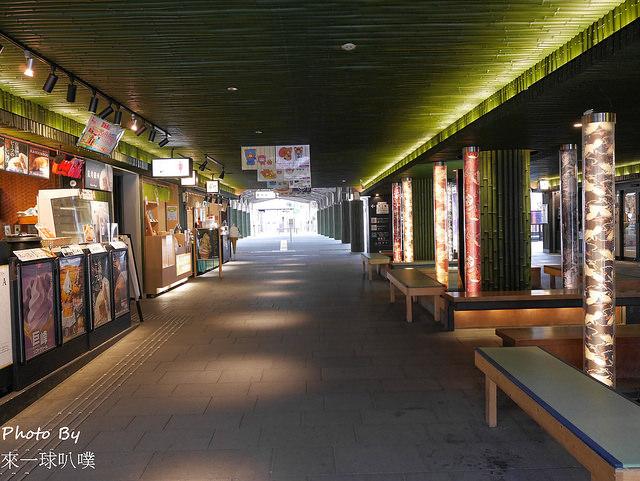 嵐電嵐山站點燈-友禪的光林(嵐電日落點燈)