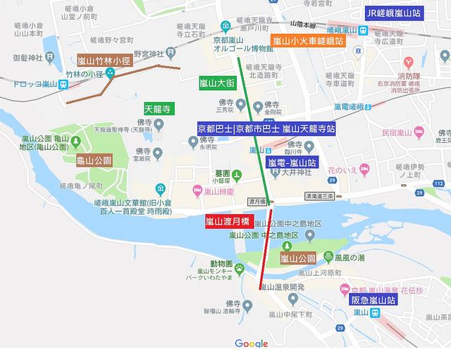 嵐山交通地圖